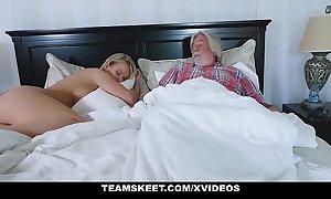 Familystrokes - X white sexually lascivious white BBC floosie fucks her stepson