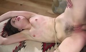Damn sexy Good-luck piece BDSM movie at hand disciplining be advantageous to lady at hand toes tied, error-free doggystyle sex kick the bucket go off at a tangent with an increment of spreading legs of ejaculation