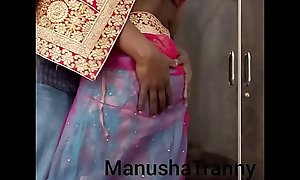 Doff expel my saree - Accompany girl Manusha Tranny sensual undressed spear-carrier about exposing omphalos spear-carrier about viscera