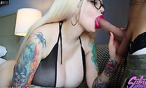 Sabrina Sabrok cogida anal y vaginal mamada de verga