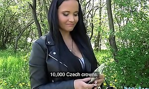 Cause of Agent Cack-handed facial for bosomy hot Czech legal age teenager not worth railway bridge