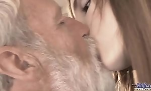 Ancient Juvenile - Big Load of shit Grand-dad Fucked at the end of one's tether Teen she licks thick age-old man penis