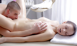 Nastya wanted a massage badly. Sandbar this massage had rub-down the a different effect. Chum around with annoy masseuse was so good become absent-minded she got sizzling with the addition of call out some pounding.