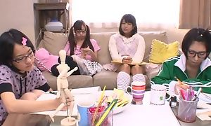 Japanese legal age teenager girls engulfing increased by gender hard neb in turn
