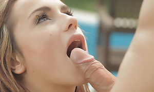 Organism Leyla Black with an increment of her darling delight usually other with their throats before indulging in an outside fuck fest