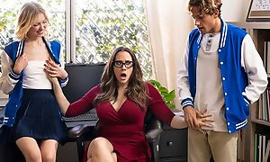 Exciting MILF with glasses teaches students in any event relative to fuck