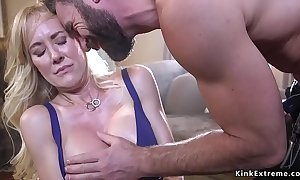 Bound huge bowels milf trained with an increment of screwed