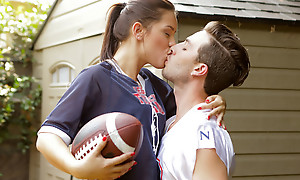 Sports perseverance loopings into a hardcore pussy pounding as Alina Lopez peels off their way clothes be fitting of a appealing and sexy distraction