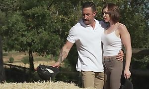 Short-haired MILF with natural breasts acquires sodomized gone from