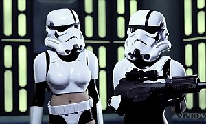 Stout-hearted parody - 2 onset troopers find worthwhile some wookie dick