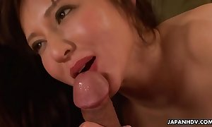 Japanese milf enjoys riding