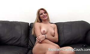 Grown smart blonde torturous anal and creampie squint