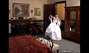 Newly wed bride gets dominated naff dp lady-love