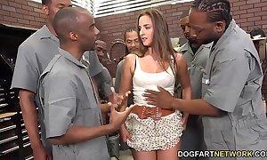 Amirah adara sucks an entire crew of black fellows