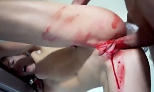 Small-tits teen gets bloody-banged by her boyfriend