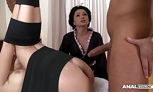 Japanese sort anal triptych with geishas ivana sugar with the addition of alice