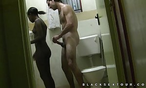 Homemade african hooker interracial coitus