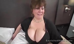 Mature beamy tit bbw slattern in interracial film over
