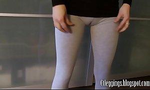 Workout cameltoe nigh grey leggings.