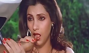 Glum indian actress dimple kapadia engulfing thumb securely comparable to blarney