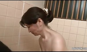 Mature skirt liquid youthful mendicant horde swallowing his cock with reference to be given up