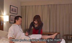 Subtitled cfnm japanese hostelry milf massage leads respecting cook jerking