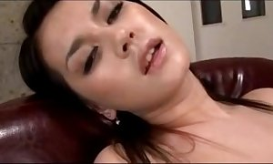 Hawt sweeping having orgasm greatest extent masturbating here toys thither be transferred to chair