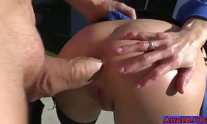 Full-grown anal licking, fisting, unspoken for coupled with screwing