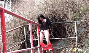 Compilation of pee deceitfully scenes from got2pee