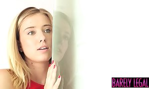 Goddess haley thin as a rail seduces hard shacking up stepdad together with rations cum