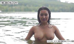 Elegant asian water abigail erection blue swimming - xczech.com