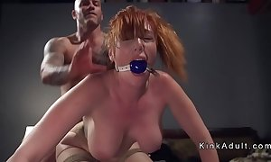 Gagged conceitedly pair redhead anal fucked