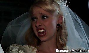 Tattooed bride anal bonks