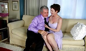 Sexy grey spunker is a super hawt fuck increased by loves facual cumshots